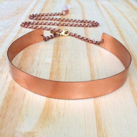 Wide Metal Choker