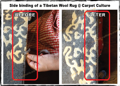 side binding of a rug at Carpet Culture