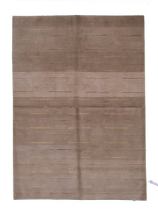 "Modern Silk And Wool Rug > Design # 924 > 4'-1"" X 5'-10"""