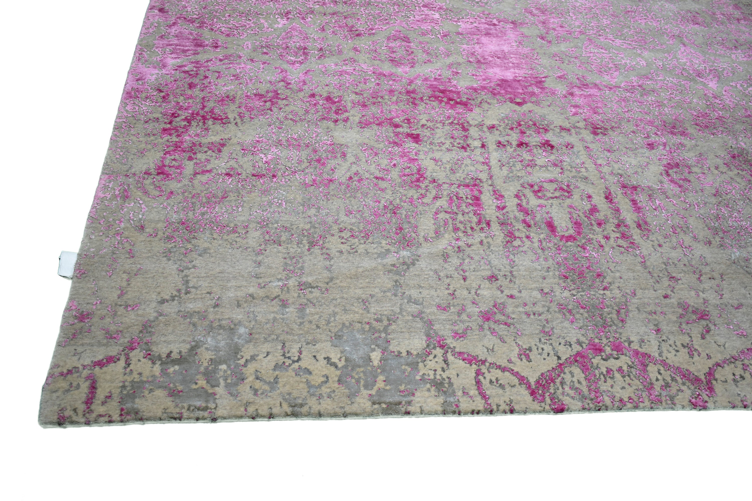 "Distressed Transitional Pink Posh Silk And Wool > Design # 1825 > 8' - 4"" X 9' - 11"""