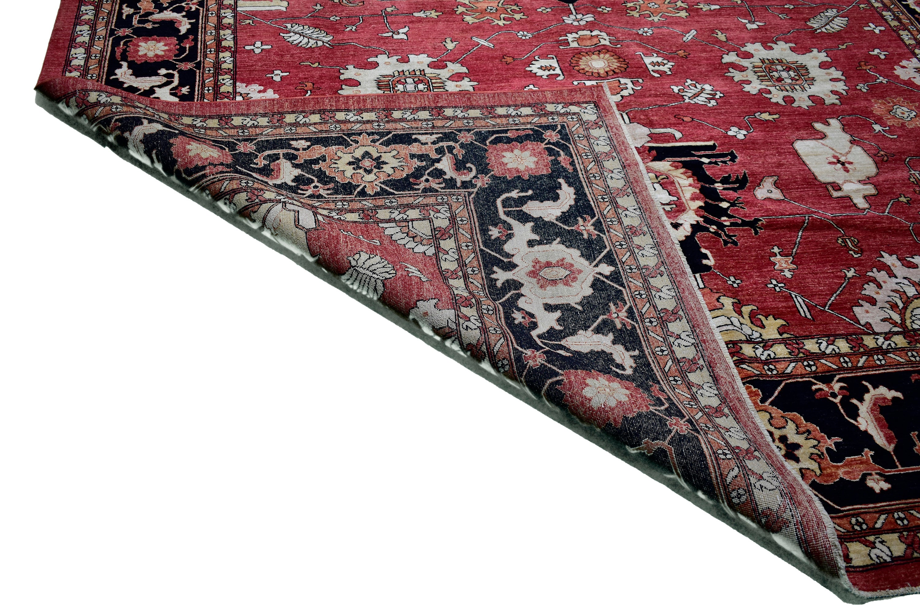 "Handmade Decorative Wool Rug > Design # 2537 > 9'-10"" X 13'-7"""