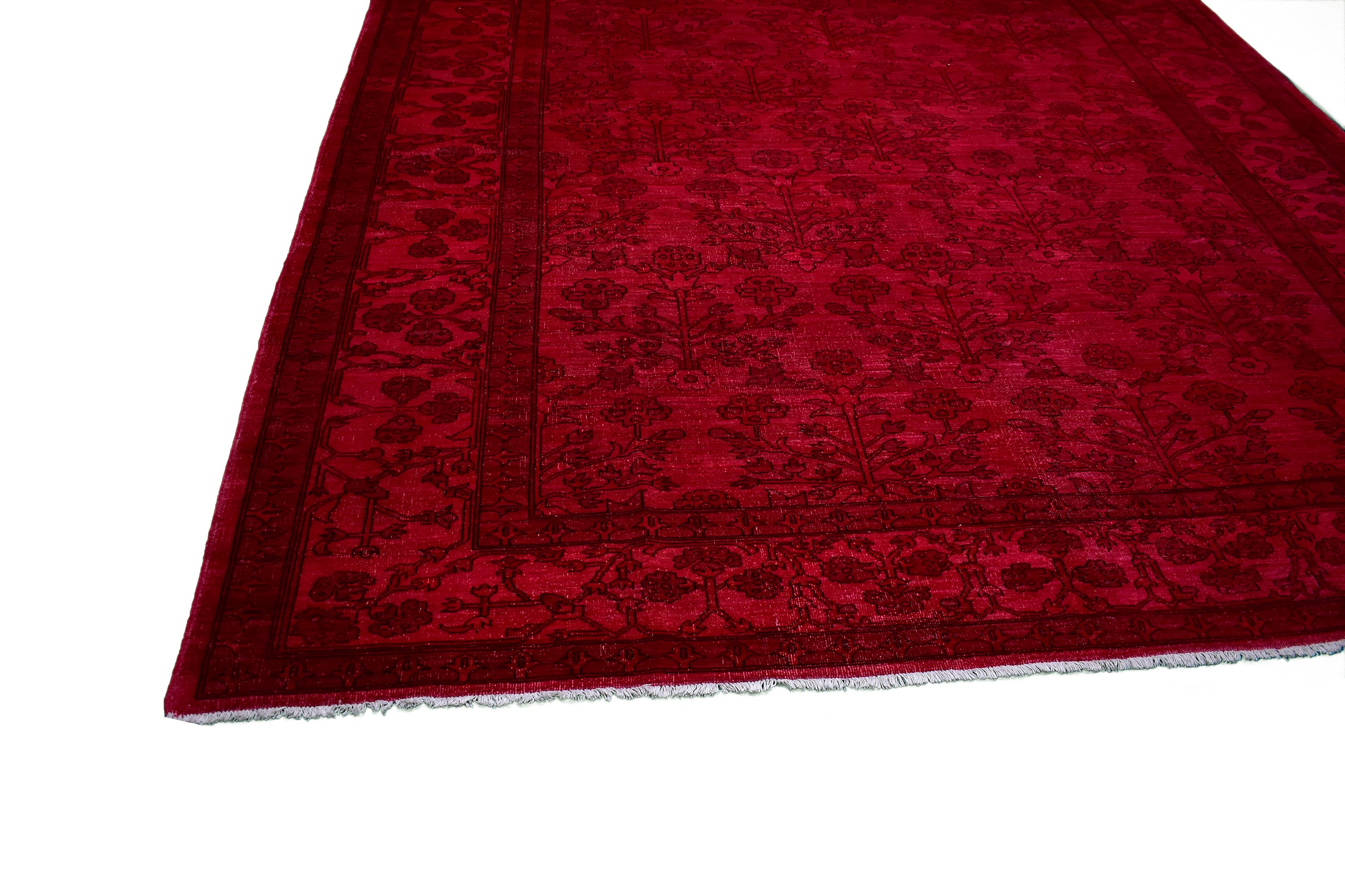 "Handmade Overdyed Rug > Design# A05196 > Size: 9'-3"" x 11'-11"""