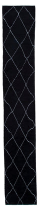 "Handmade Black Color Moroccan Runner > Design# 33046 > Size: 2'-5"" x 15'-2"" [ONLINE ONLY]"
