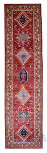 "Handmade Afghani Decorative Runner > Design # 2569 > 2'-7"" X 10'-2"""