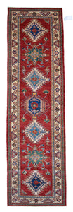 "New Handmade Afghani Super Kazak Runner > Design # 2433 > 2'-8"" X 9'-5"""