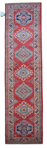 "New Handmade Afghani Super Kazak Runner > Design # 2460 > 2'-7"" X 9'-11"""