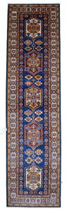 "New Handmade Afghani Super Kazak Runner > Design # 2418 > 2'-7"" X 10'-2"""