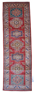 "New Handmade Afghani Super Kazak Runner > Design # 2424 > 2'-8"" X 8'-7"""