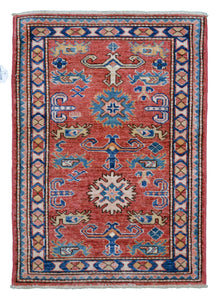"New Handmade Afghani Super Kazak > Design # 2440 > 2'-1"" X 3'-1"""