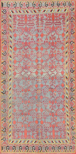 Antique Turkmen Khotan Rug KH-013