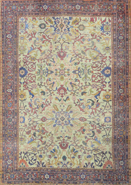Antique Persian  Mahal Rug A 033