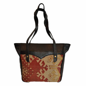 "Turkish Vintage Kilim Bag-b:12 B:12 Size: W: 16"" H: 11"" D: 5"" Drop Length: 13"""