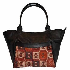 "Turkish Vintage Kilim Bag-b:19 B:19 Size: W: 17"" H: 11"" D: 4"" Drop Length: 11"""