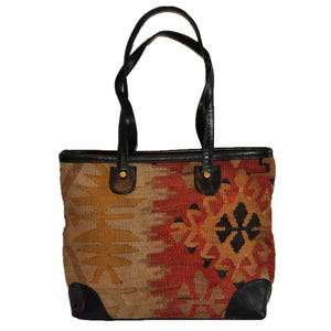 "Turkish Vintage Kilim Bag-b:33 B:33 Size: W: 14"" H: 10"" D: 5"" Drop Length: 10"""