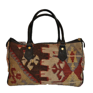"Turkish Vintage Kilim Bag-b:37 B:37 Size: W: 14"" H: 10"" D: 9"" Drop Length: 7"""
