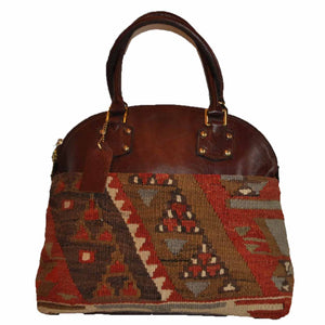 "Turkish Vintage Kilim Bag-b:47 B:47 Size: W: 14"" H: 10"" D: 6"" Drop Length: 6"""