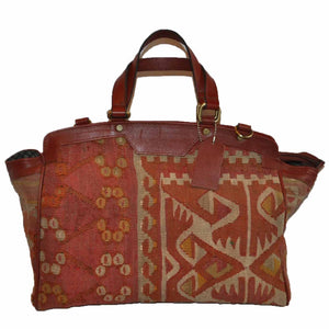 "Turkish Vintage Kilim Bag-b:49 B:49 Size: W: 17"" H: 11"" D: 5"" Drop Length: 6"""