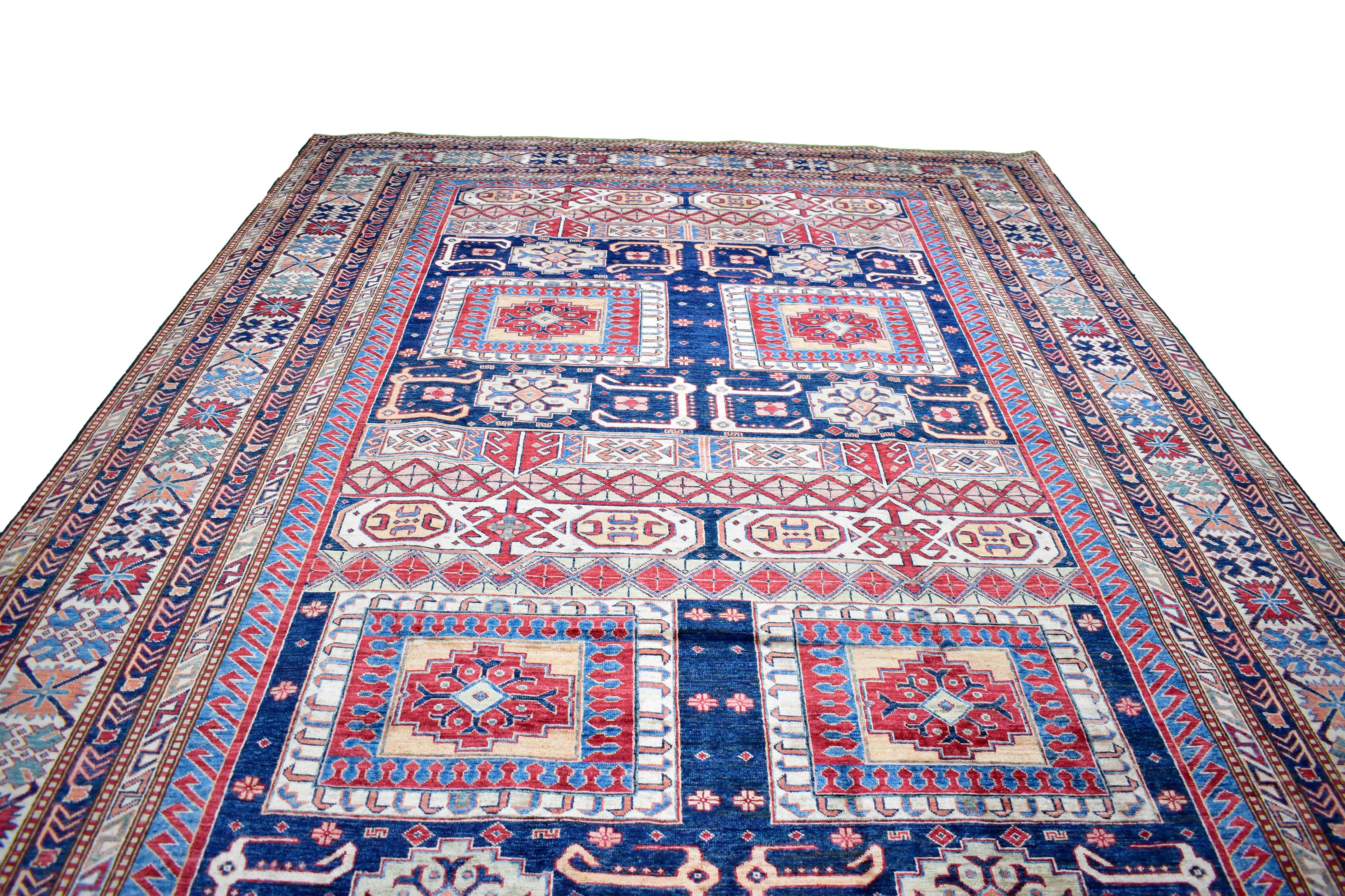 "Hand Knotted Kazak Area Rug > Design# 0428320270 > Size: 8'-8"" x 12'-1"" - Carpet Culture"