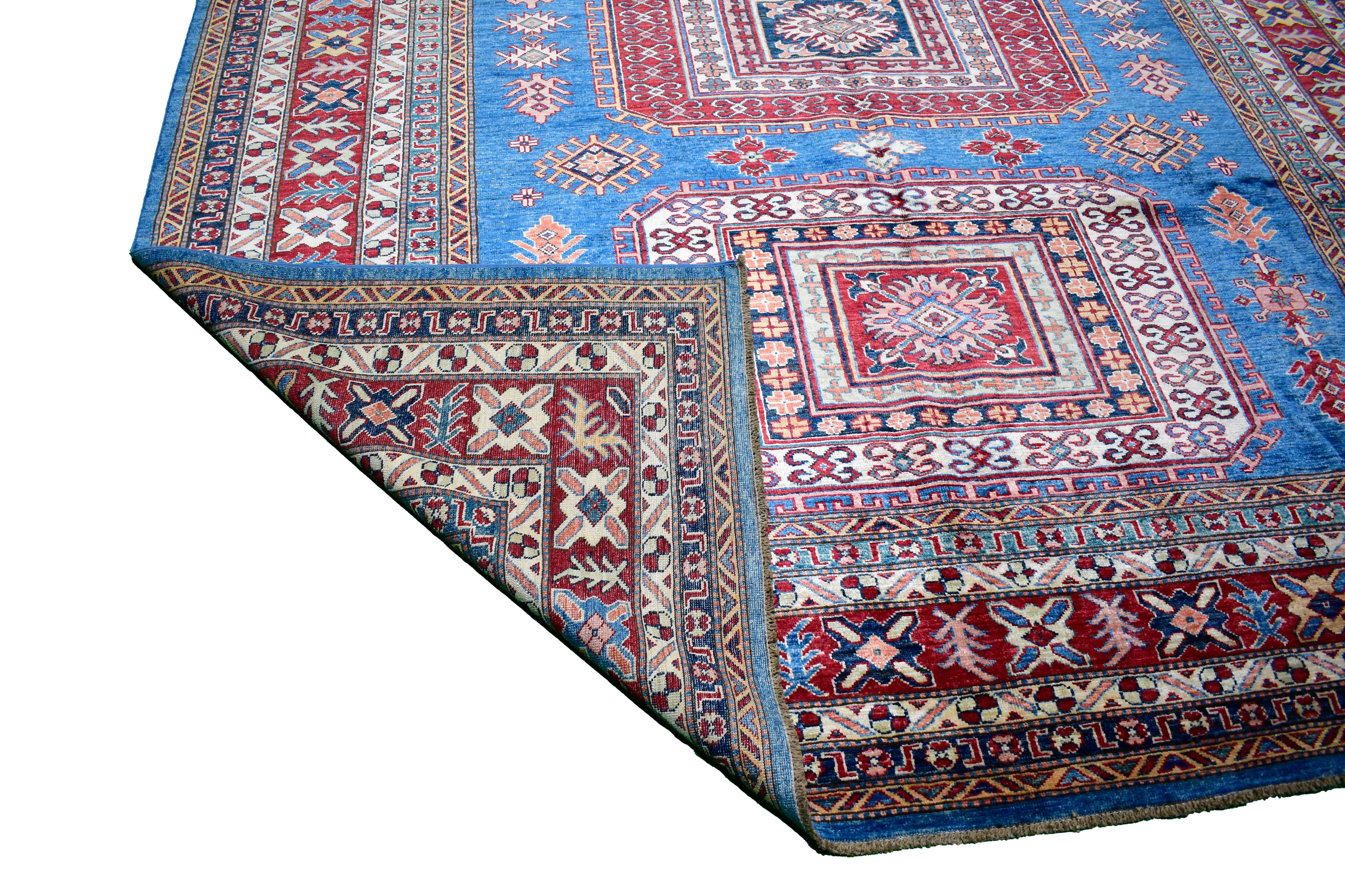 "Hand Knotted Kazak Area Rug > Design# 0428320246 > Size: 8'-1"" x 9'-10"" - Carpet Culture"