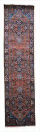 "Handmade New Heriz Runner > Design# 701019 > Size: 2'-6"" X 10'-2"""