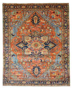 "Persian Heriz Design Wool Rugs > Design # 2577 > 8'-0"" X 10'-0"""