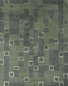 Modern Silk And Wool Rug CC0955