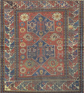 Antique Caucasian Kazak Rug CC1493