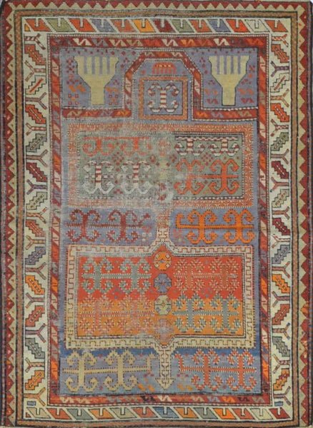 Antique Turkish Prayer Rug SNA 009