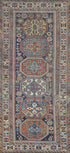 "Antique Caucasian Kazak Rug > Design # 450 > 3'-7"" X 7'-10"""