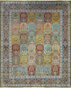 Persian Silk On Silk Rug CC1596