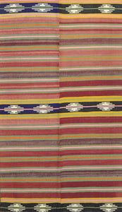 "Handmade Turkish Kilim Rug > Design # 685 > 4'-0"" X 6'-9"""