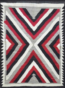 Old American Indian Navajo Rug CC1843