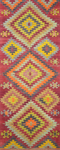 Turkish Old Kilim Runner-c CC1903