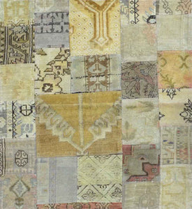 Turkish Over Dyed Patchwork Rug CC1912