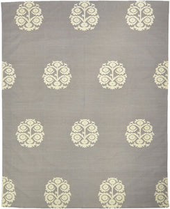 Anaar Cotton Dhurrie-smoke White 2446C