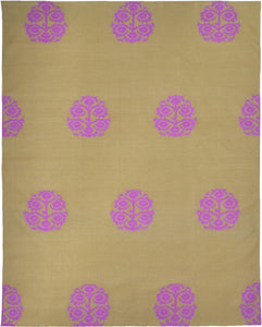 Anaar Cotton Dhurrie-brown-pink 2448C