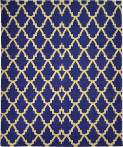 Handmade Cotton Lattice Blue Beige 2451C