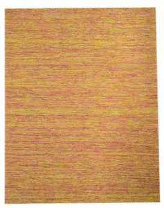 Indian Orange Yellow Saree Silk Rug S2531