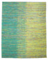 "Indian Green Yellow Shade Saree Silk Rug > Design # 1838 > 8' - 0"" X 10' - 2"""