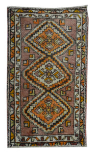 "Turkish Antique Entryway Doormats > Design # 1663 > 1'-11"" X 3'-9"""