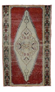 Old Turkish Silk Rug U2629-3