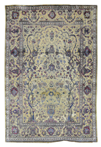 Antique Turkish Silk Rug U2644