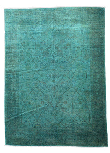 Distressed Diana Vintage Afghani Overdyed Rug A01550