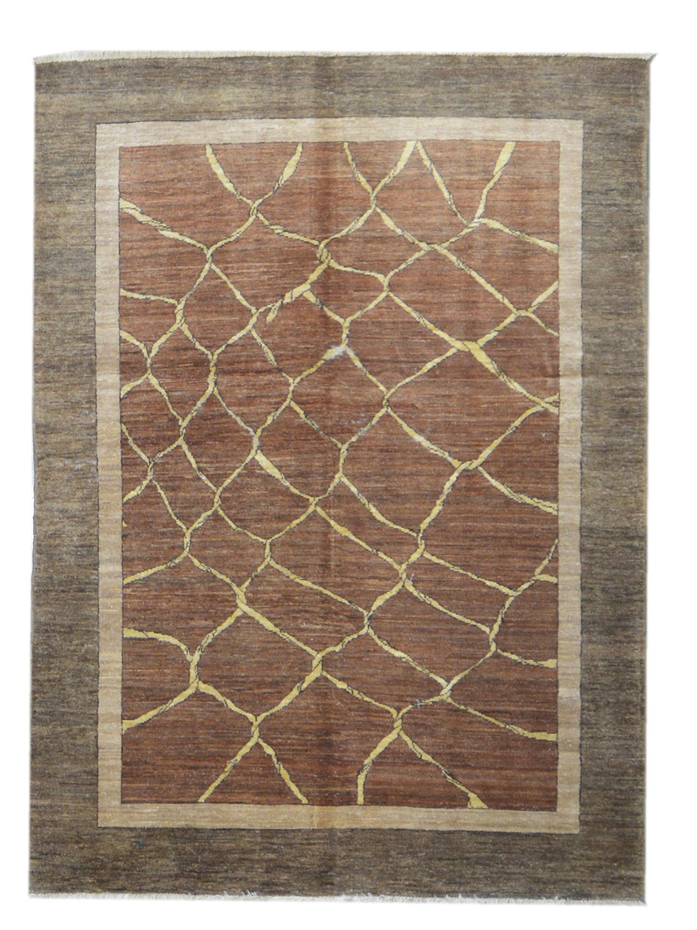 Handmade Modern Afghani Angelika Wool Rug M2771 On Sale At Carpet