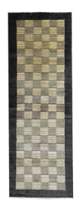 Handmade Modern Afghani Angelyn Wool Runner M2778