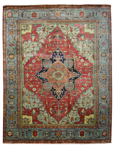 Persian Heriz Design Wool Rugs Z3081