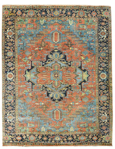 Persian Heriz Design Wool Rugs Z3087