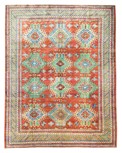 New Afghani Decorative Rug NMC9419