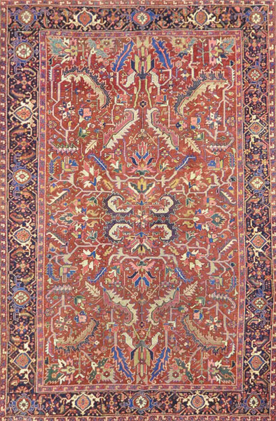 Antique Persian Heriz Rug NA 003