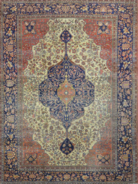 Antique Persian Saroukh  Farahan Rug NA 006